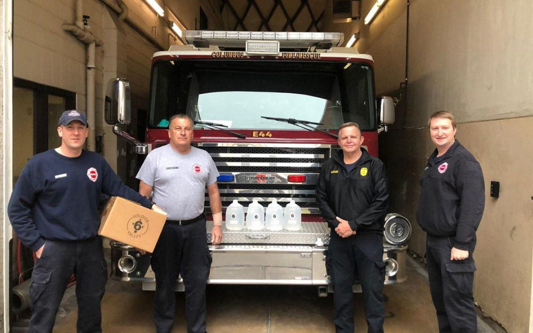 Soldier Valley lends hand to Columbus fire, police